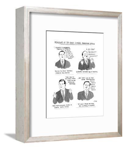 Highlights of Ted Cruz's 21-hour Marathon Speech - Cartoon-Emily Flake-Framed Art Print