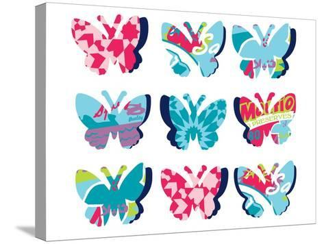 Butterfly Collage--Stretched Canvas Print