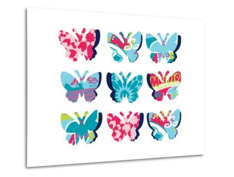 Butterfly Collage--Metal Print