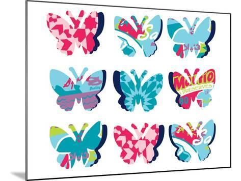 Butterfly Collage--Mounted Giclee Print