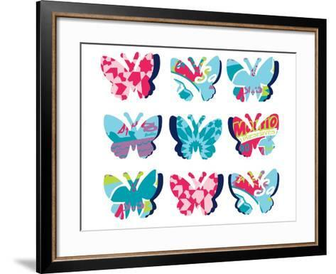 Butterfly Collage--Framed Art Print