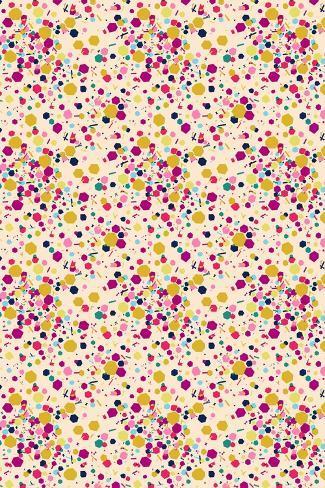 Confetti Tile--Stretched Canvas Print