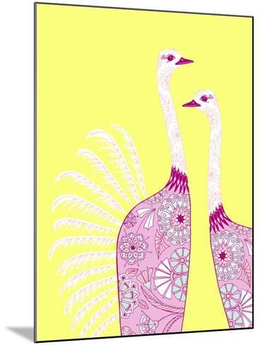 Ostrich Girls--Mounted Giclee Print