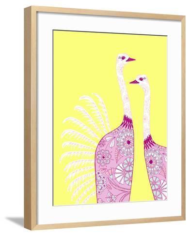 Ostrich Girls--Framed Art Print