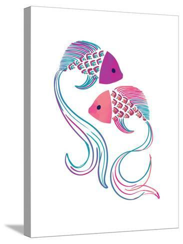 Petits Poissons--Stretched Canvas Print