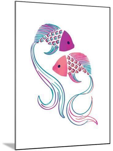 Petits Poissons--Mounted Giclee Print