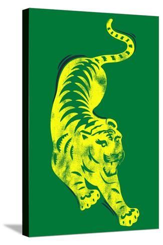 Pouncing Tiger--Stretched Canvas Print