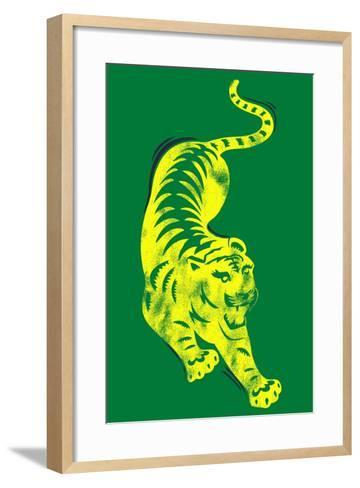 Pouncing Tiger--Framed Art Print