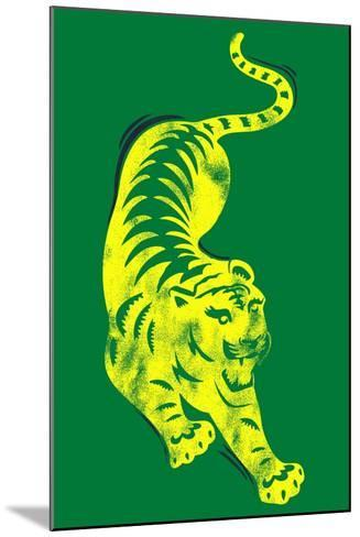 Pouncing Tiger--Mounted Giclee Print