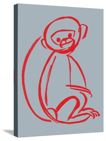 Witty Monkey--Stretched Canvas Print