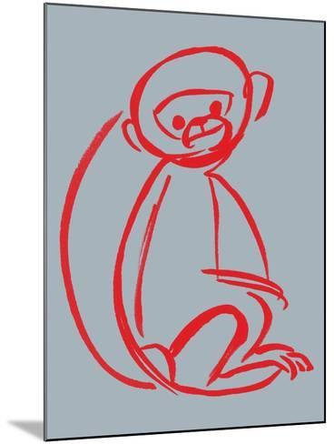 Witty Monkey--Mounted Giclee Print