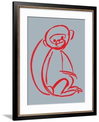 Witty Monkey--Framed Art Print