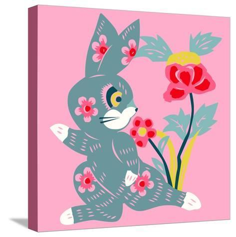 Eastern Pop Bunny--Stretched Canvas Print