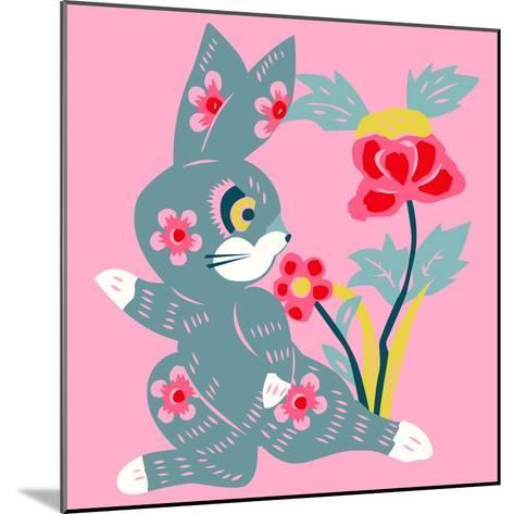 Eastern Pop Bunny--Mounted Giclee Print