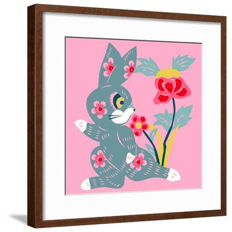 Eastern Pop Bunny--Framed Art Print