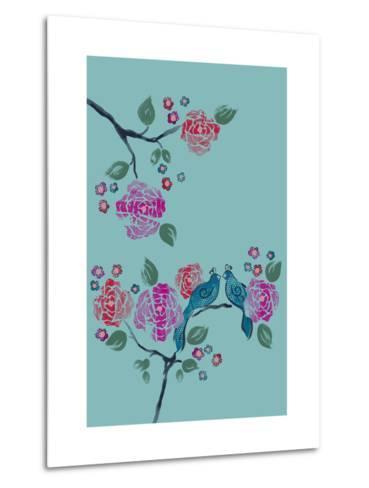Love Birds--Metal Print