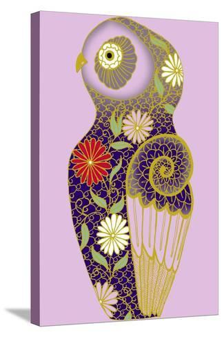 Cloissone Owl--Stretched Canvas Print