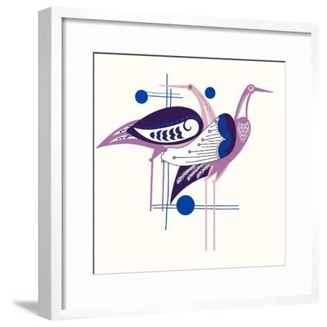 Deco Cranes--Framed Art Print