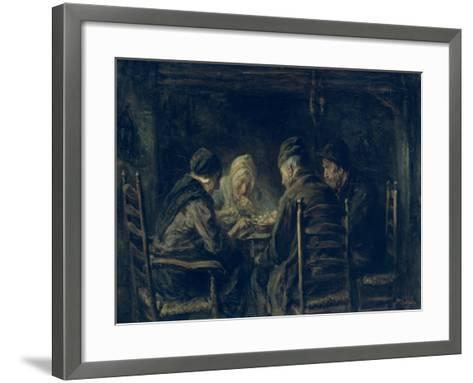 The Potato Eaters, 1902-Jozef Israels-Framed Art Print