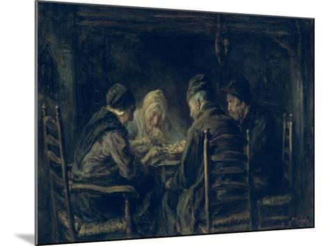 The Potato Eaters, 1902-Jozef Israels-Mounted Giclee Print