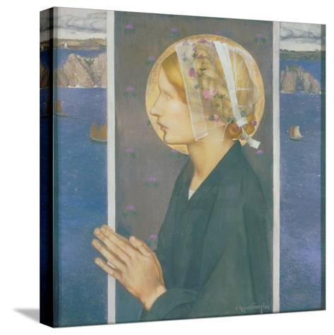 A Madonna of Brittany, 1913-Edward Reginald Frampton-Stretched Canvas Print