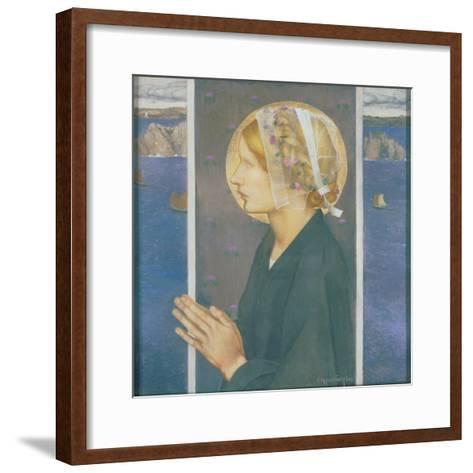 A Madonna of Brittany, 1913-Edward Reginald Frampton-Framed Art Print