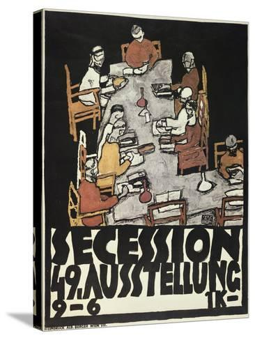 Poster for the Vienna Secession, 49th Exhibition, Die Freunde, 1918-Egon Schiele-Stretched Canvas Print