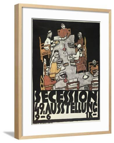 Poster for the Vienna Secession, 49th Exhibition, Die Freunde, 1918-Egon Schiele-Framed Art Print