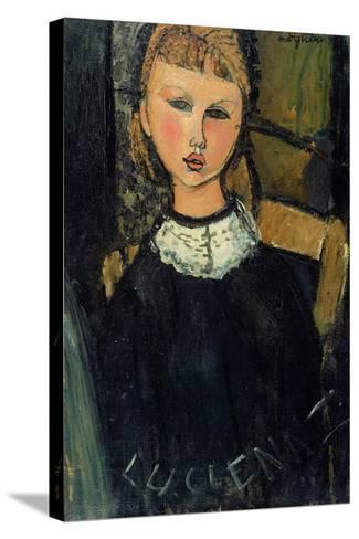 Lucienne, c.1916-17-Amedeo Modigliani-Stretched Canvas Print
