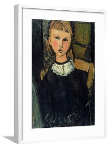 Lucienne, c.1916-17-Amedeo Modigliani-Framed Art Print