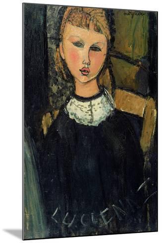 Lucienne, c.1916-17-Amedeo Modigliani-Mounted Giclee Print