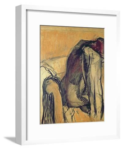 After the Bath, 1905-7-Edgar Degas-Framed Art Print