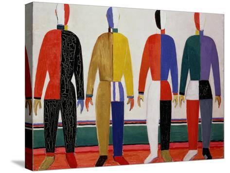 Sportsmen, or Suprematism in Sportsmen's Contours, 1928-32-Kasimir Malevich-Stretched Canvas Print
