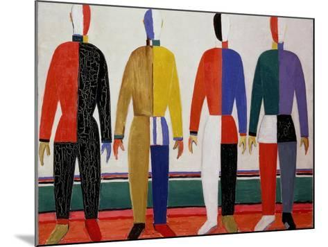 Sportsmen, or Suprematism in Sportsmen's Contours, 1928-32-Kasimir Malevich-Mounted Giclee Print