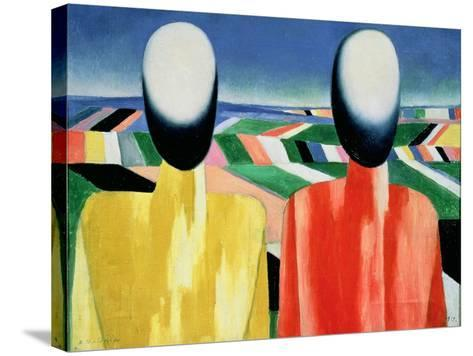 Two Peasants-Kasimir Malevich-Stretched Canvas Print