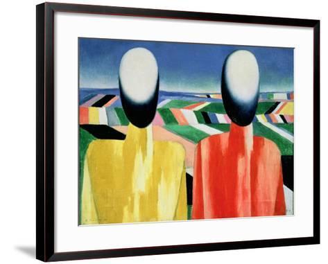 Two Peasants-Kasimir Malevich-Framed Art Print