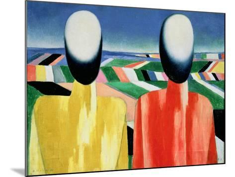 Two Peasants-Kasimir Malevich-Mounted Giclee Print
