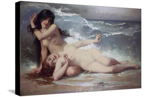 Catching Waves-Paul Albert Laurens-Stretched Canvas Print