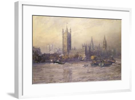 The Houses of Parliament, Watercolour-Maude Parker-Framed Art Print
