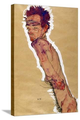 Self Portrait Nude, 1910-Egon Schiele-Stretched Canvas Print