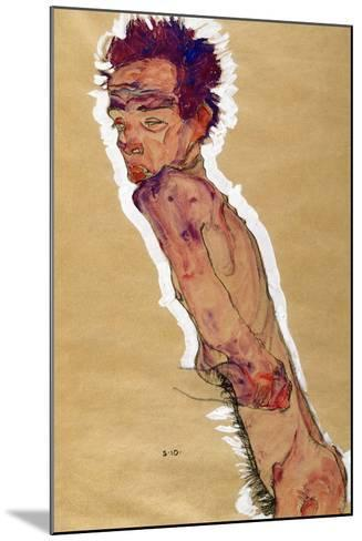 Self Portrait Nude, 1910-Egon Schiele-Mounted Giclee Print