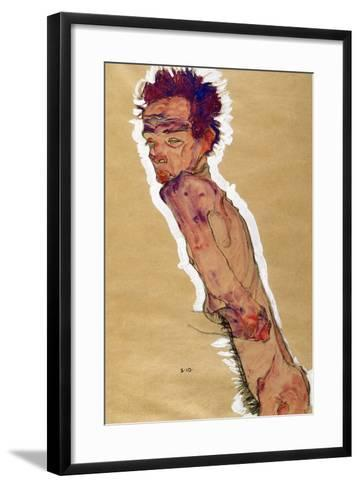 Self Portrait Nude, 1910-Egon Schiele-Framed Art Print
