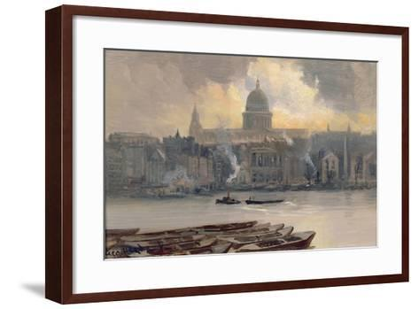 St.Paul's from the River-George Hyde Pownall-Framed Art Print