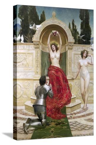 In the Venusburg (Tannhauser), 1901-John Collier-Stretched Canvas Print