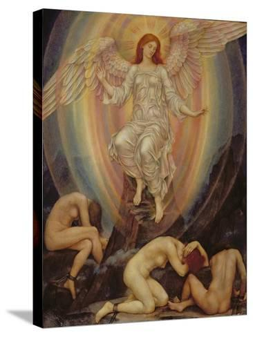 The Light Shineth in Darkness and the Darkness Comprehendeth it Not, 1906-Evelyn De Morgan-Stretched Canvas Print