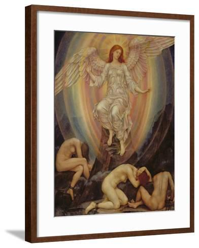 The Light Shineth in Darkness and the Darkness Comprehendeth it Not, 1906-Evelyn De Morgan-Framed Art Print