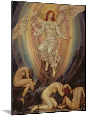 The Light Shineth in Darkness and the Darkness Comprehendeth it Not, 1906-Evelyn De Morgan-Mounted Giclee Print