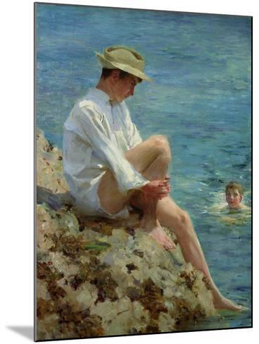 Boys Bathing, 1908-Henry Scott Tuke-Mounted Giclee Print