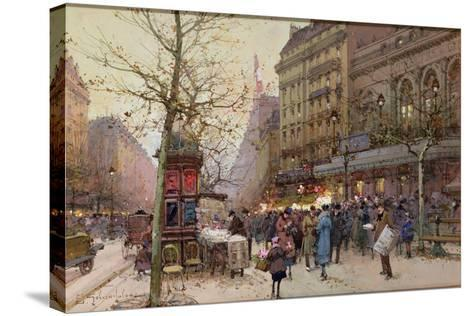 The Great Boulevards-Eugene Galien-Laloue-Stretched Canvas Print