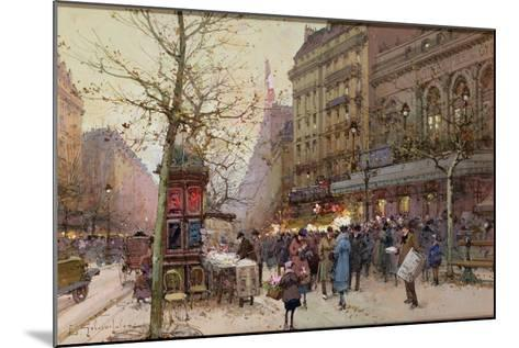 The Great Boulevards-Eugene Galien-Laloue-Mounted Giclee Print